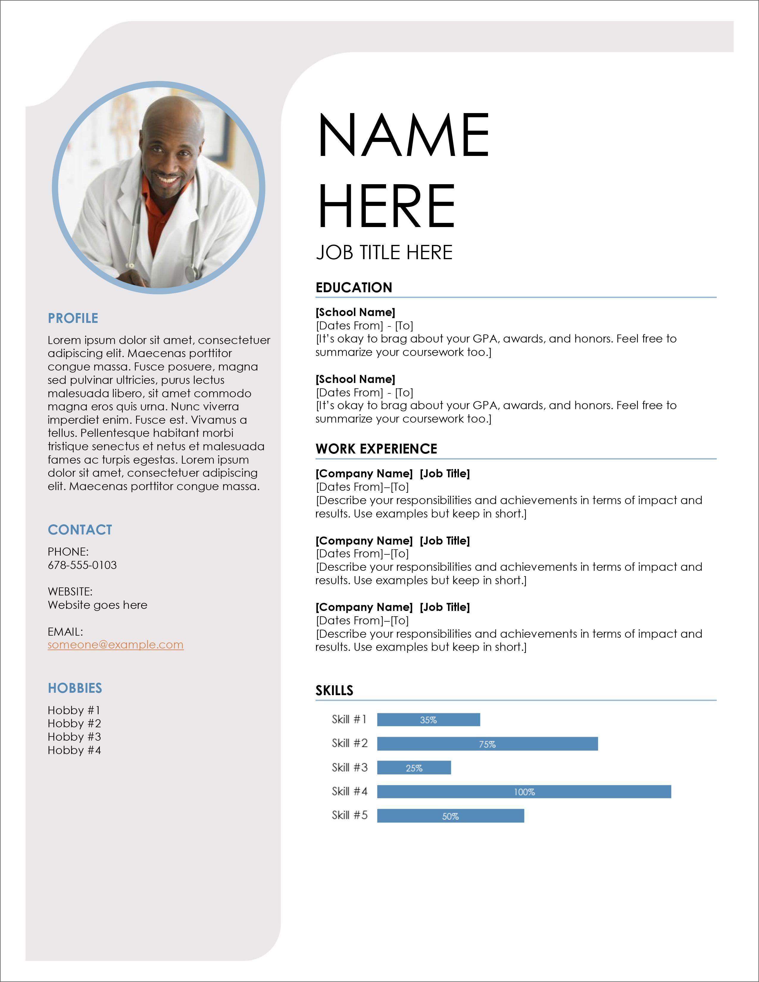 Free Professional Resume Template Graphic design resume