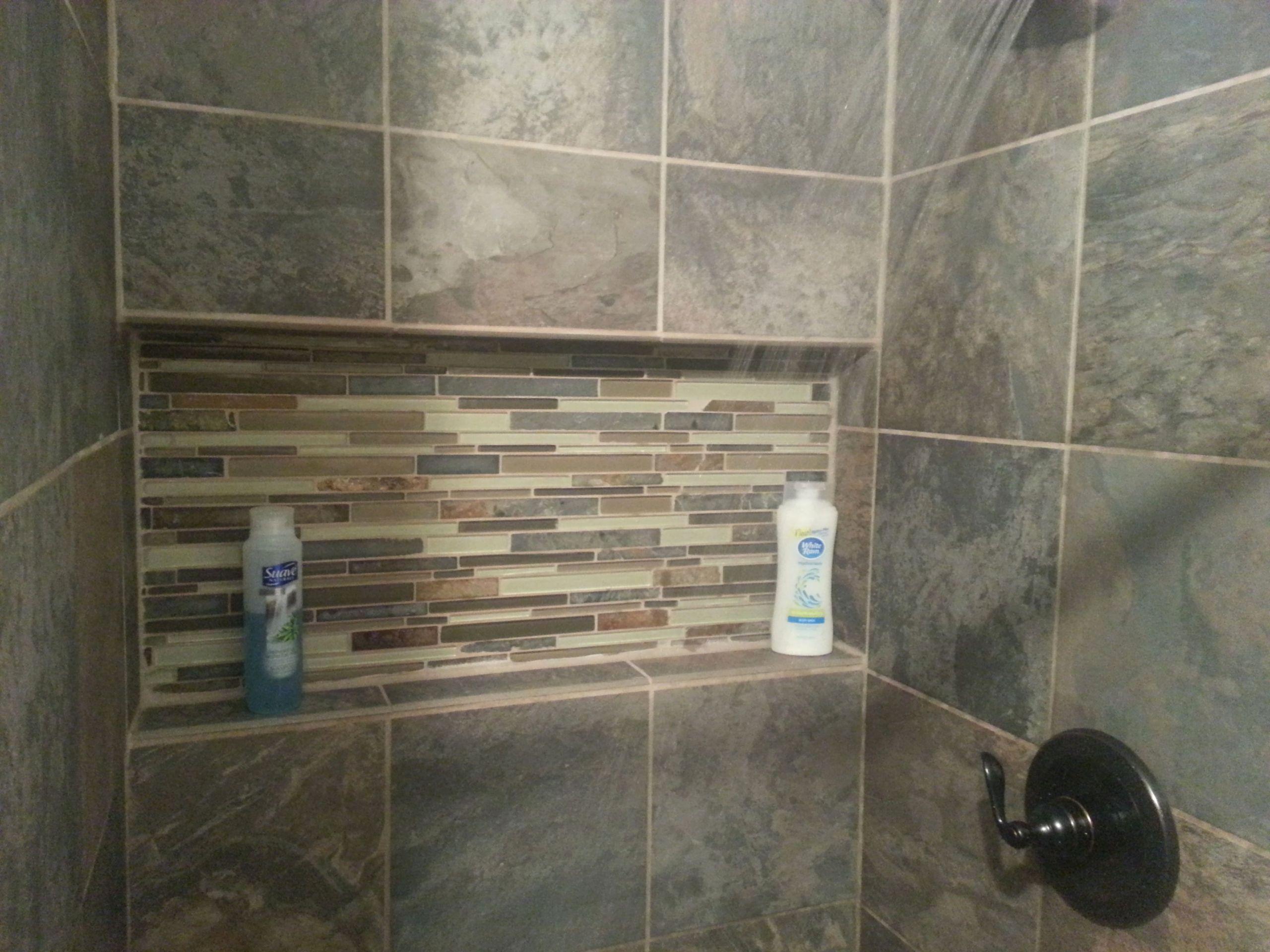 24 Tile Shower Shelf Ideas In 2020 Modern Bathroom Decor