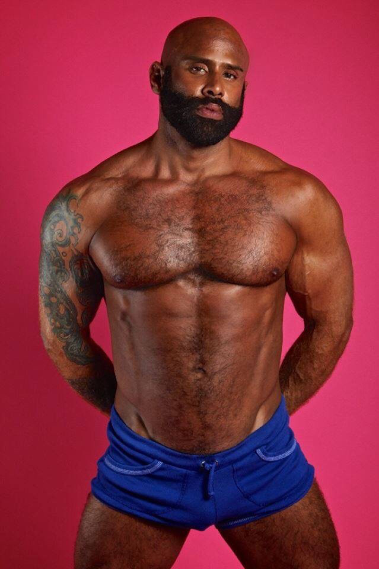 Shorty Shorts Beards Hairy Men Shirtless Men Guy