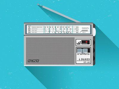 Sony Icf J40 With Images Vintage Radio Old Radios Portable Radio