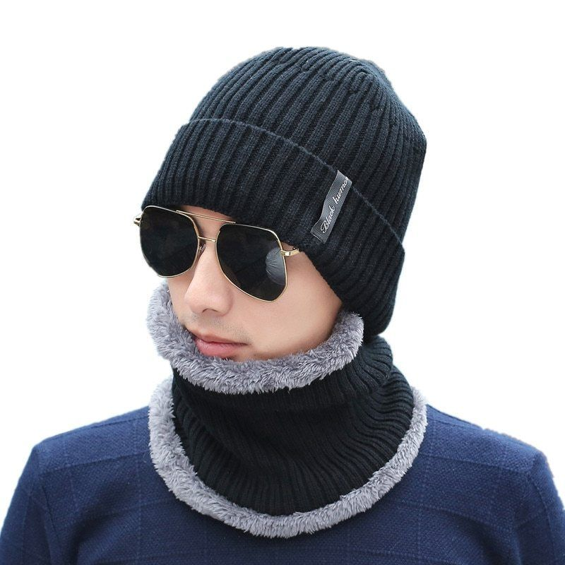 2018 Hot Wool Winter Hats Skullies Beanies Hat Winter Beanies For Men Women  Scarf Caps Balaclava Mask Gorras Bonnet Knitted Hat now available on  Affordable ... 98b43d16b8b