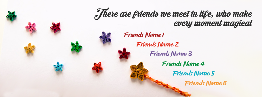 magical friends fb name cover happy friendship day