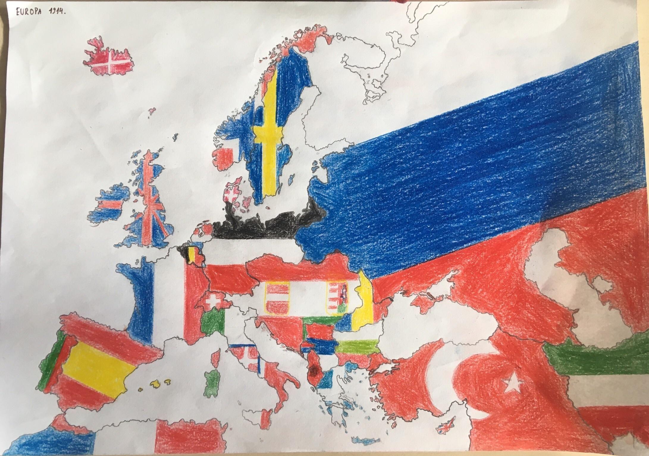 Printable Blank Map Of Europe Worksheet