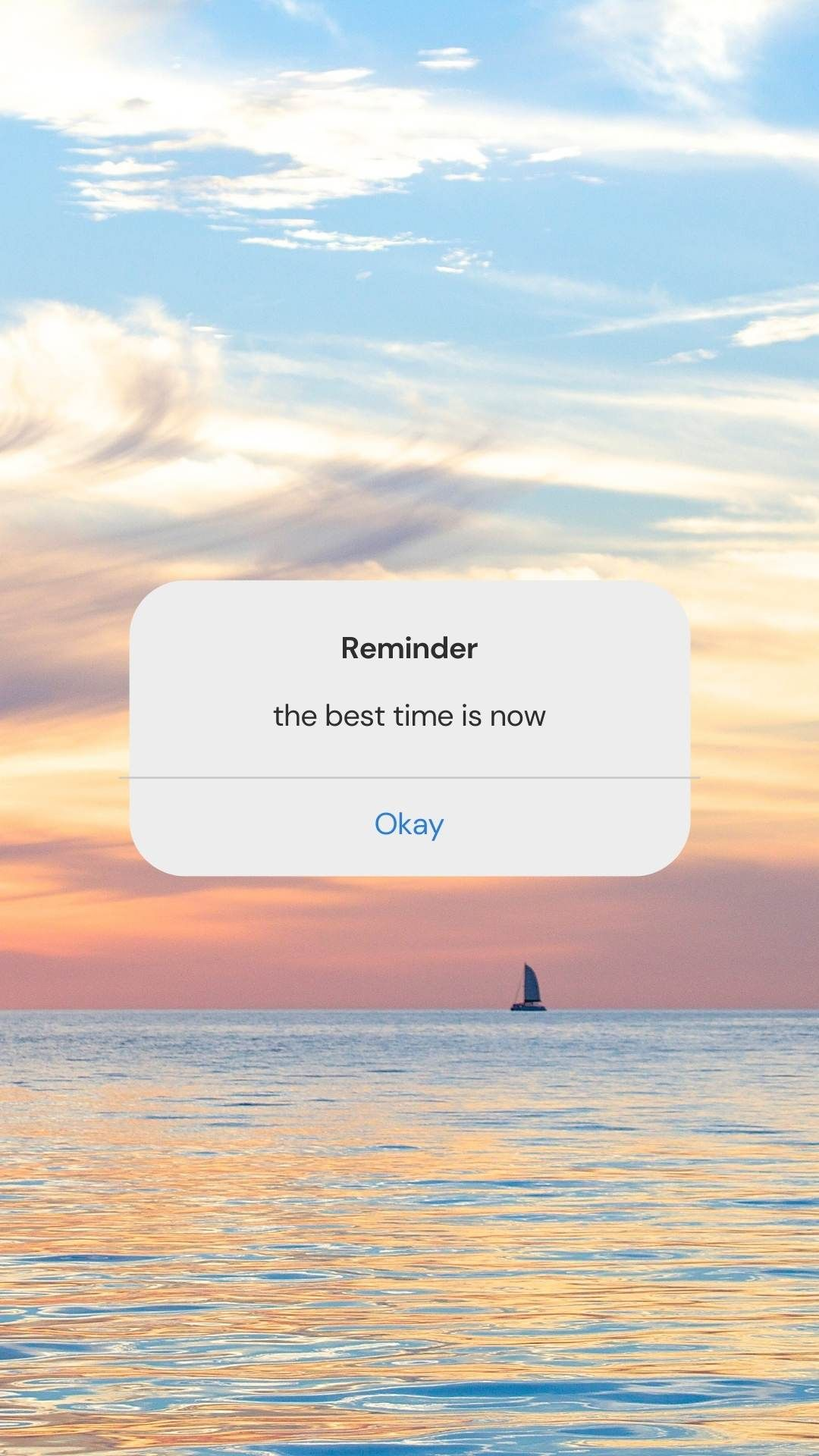 Reminder: the best time is now