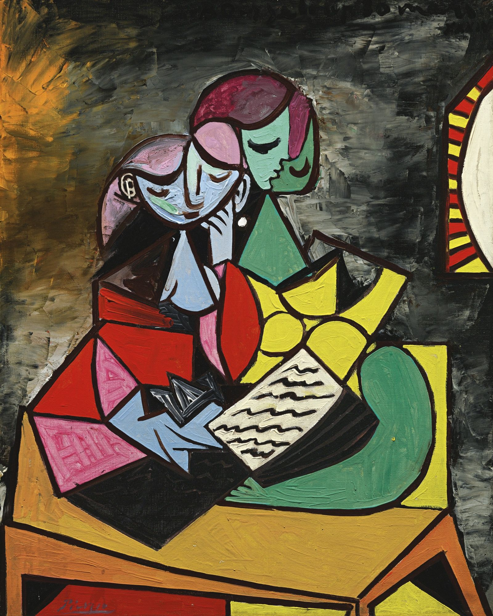 Cuadros Pablo Picasso Pablo Picasso Two Characters The Reading 1934 Painting