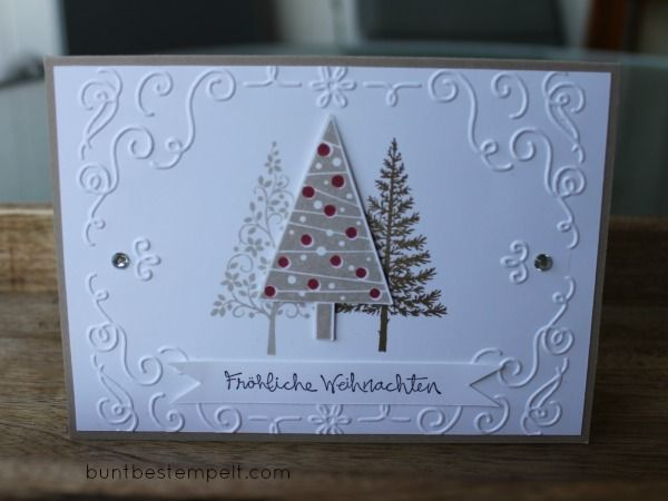 christbaumfestival stampin up stampin up christbaumfestival pinterest weihnachtskarten. Black Bedroom Furniture Sets. Home Design Ideas