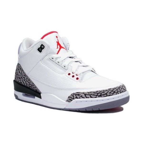 check out d31ac 6d0f1 Nike Air Jordan Retro 3 White/Cement Grey Sneakers ...