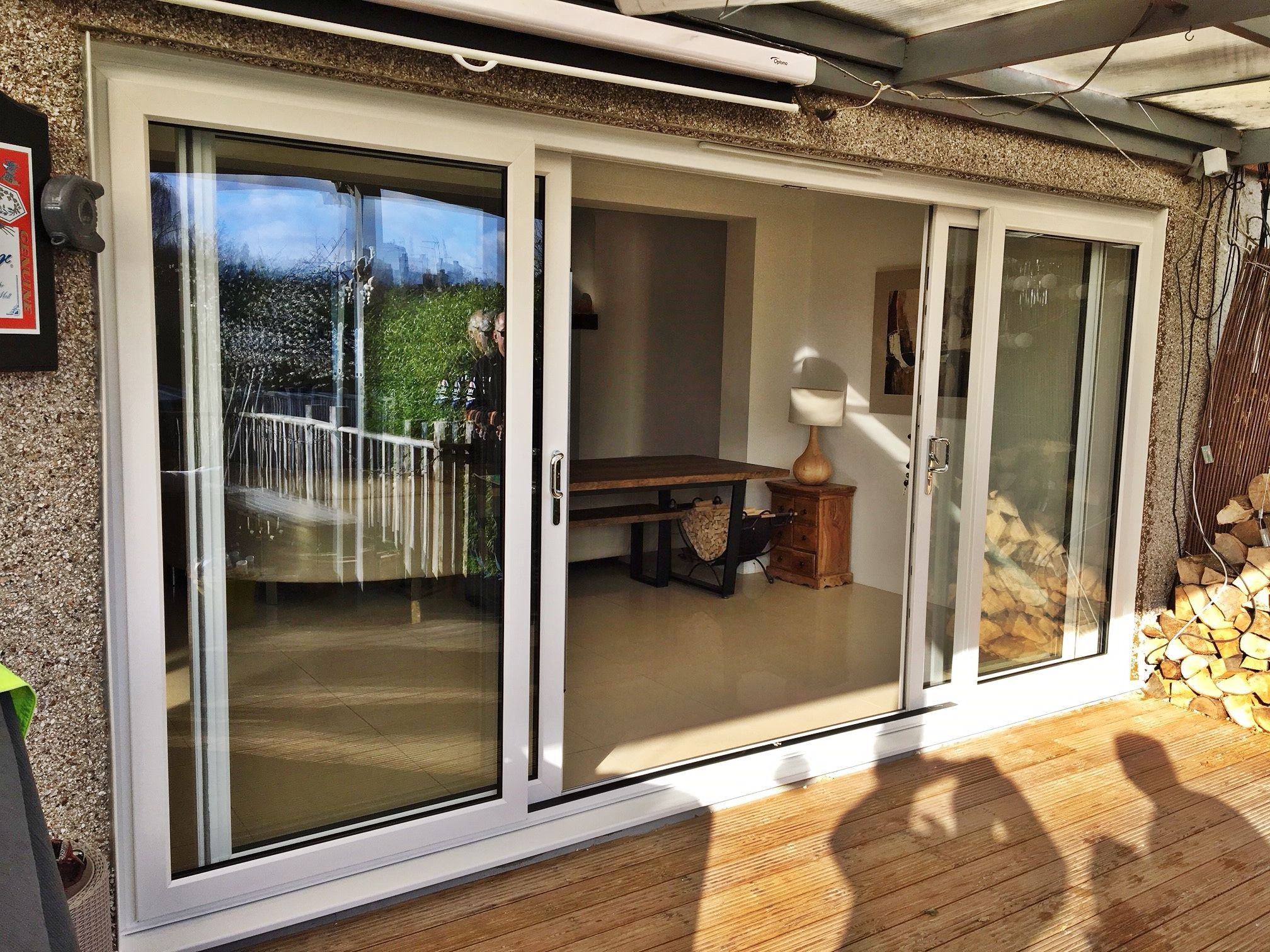 Upvc Patio Slider Door With Two Sliding Leaves Supplied And