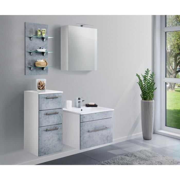 Ensemble de meuble de salle de bain SANTINI 60 (4 Pièces ...