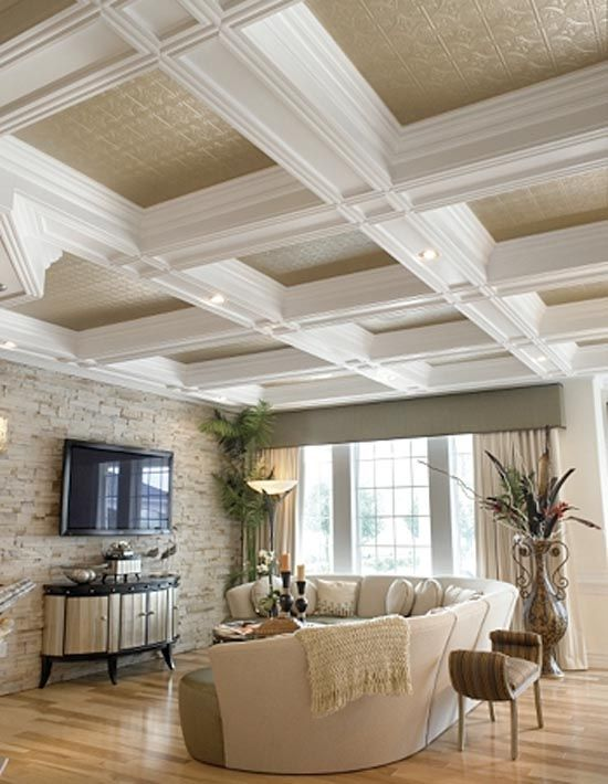We Would Like This Look In The Living Room Our Ceiling Is Much
