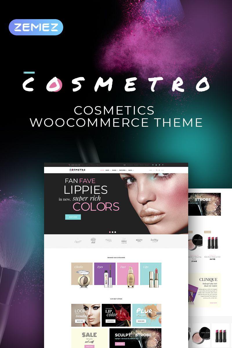 Cosmetro Cosmetics Store Elementor Theme in