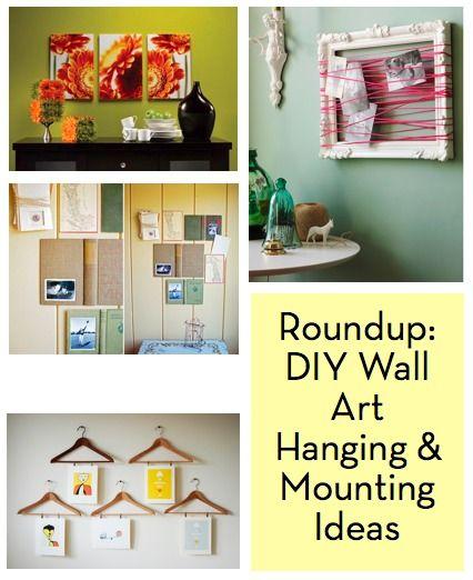 Roundup: 10 DIY Wall Art Mounting and Hanging Ideas | Diy wall art ...