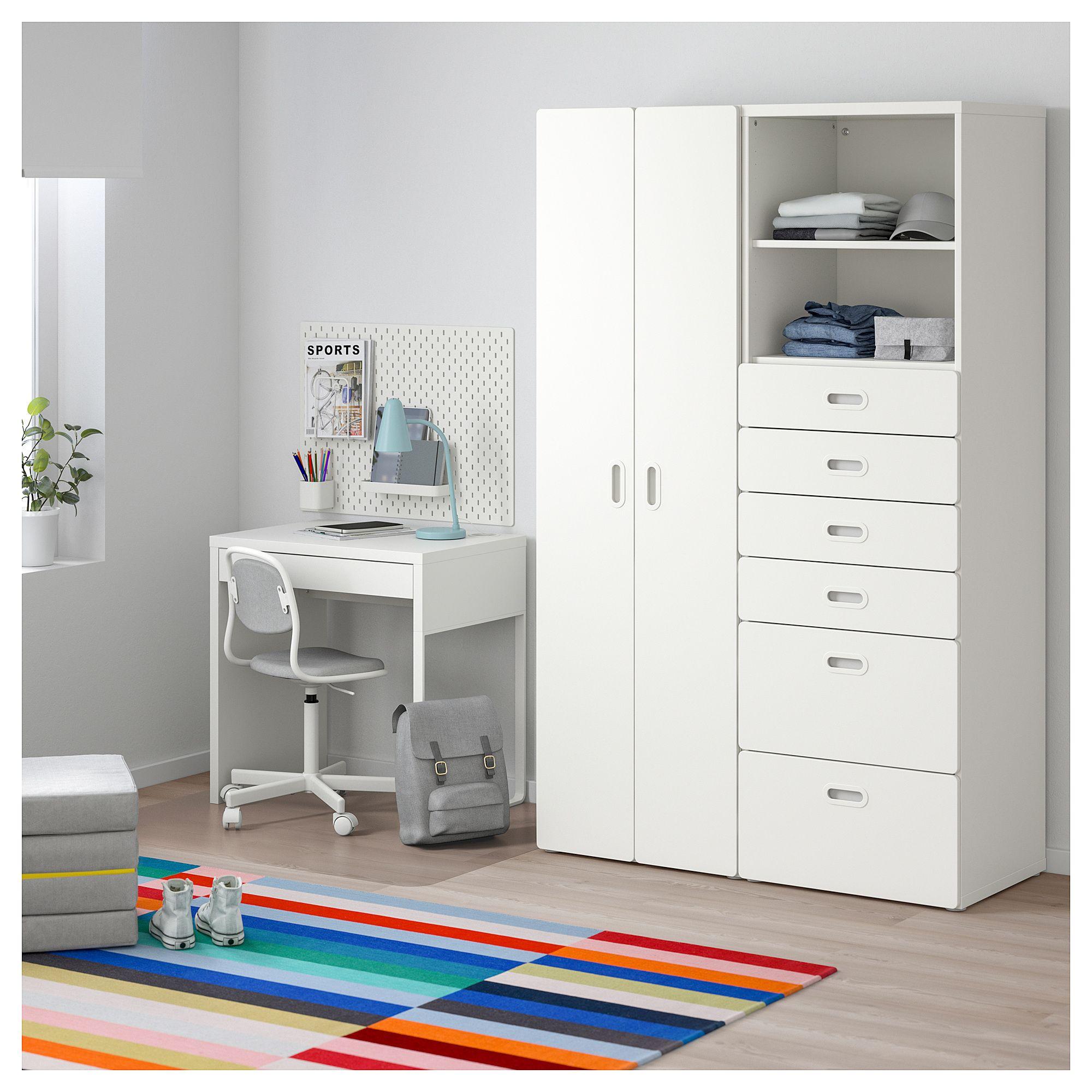 Stuva Fritids Wardrobe White White 47 1 4x19 5 8x75 5 8