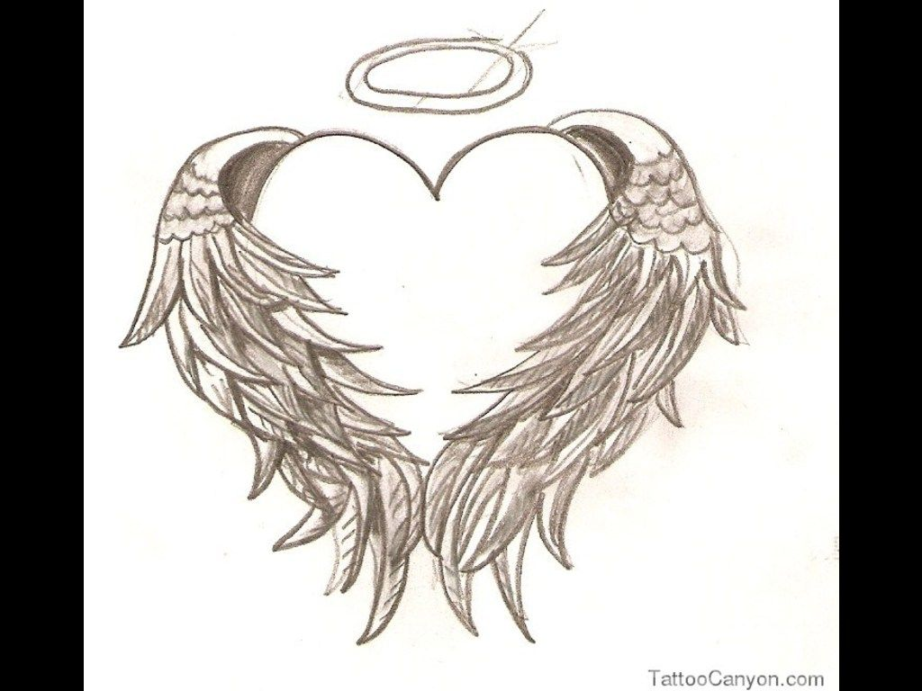 I Would Love This On My Ankle Heart Angel Wings Tattoos Free Tattoo Designs Gallery Considering One So Have Room For More Items That Respresent Me