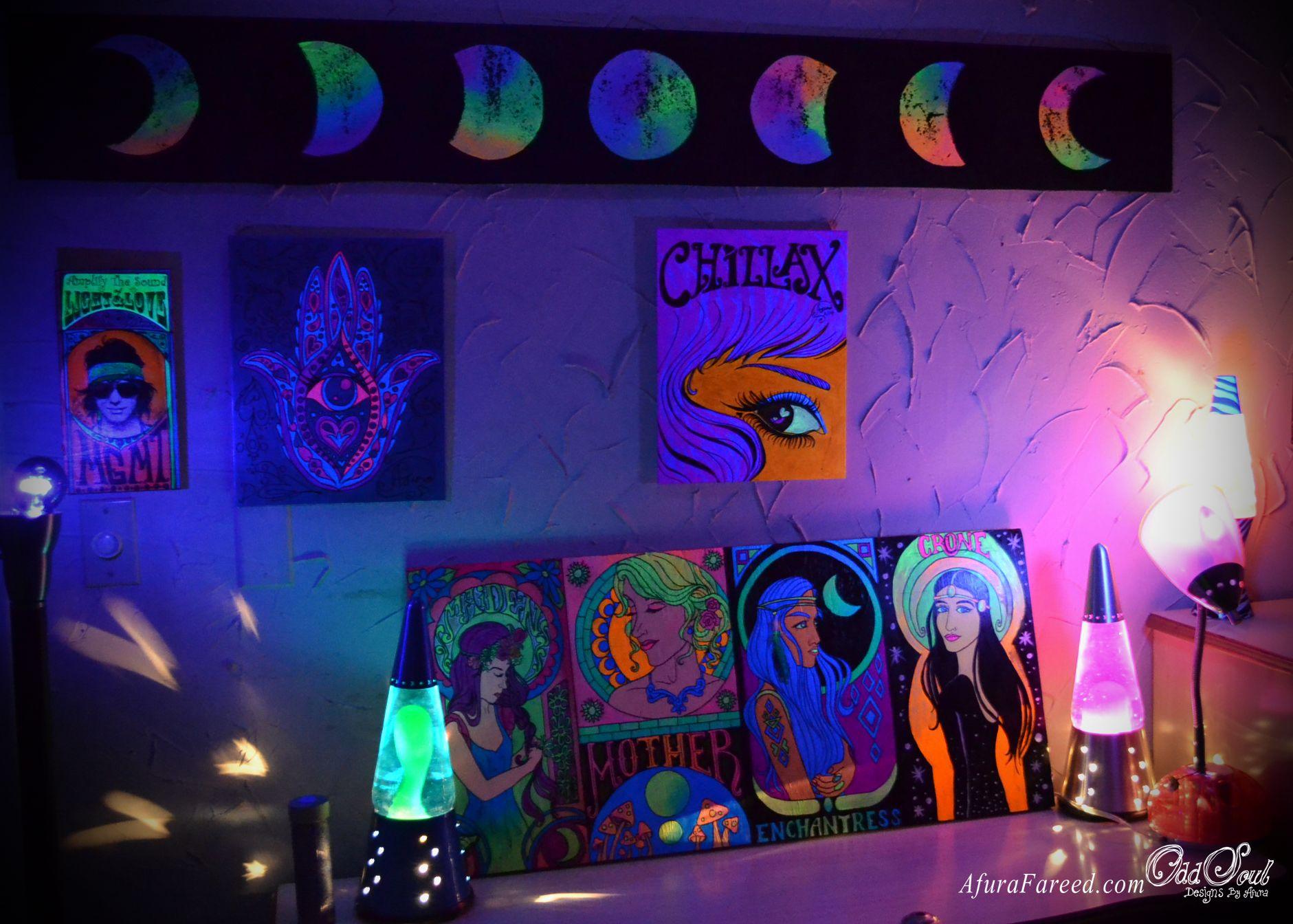 Black Light Wall Art By OddSoul Designs