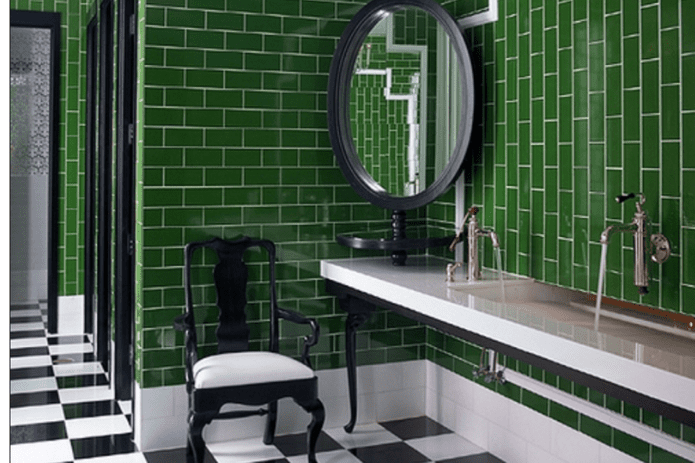 How To Decorate With Gorgeous Green Bathroom Tile Designs Green Home Decor White Subway Tile Bathroom
