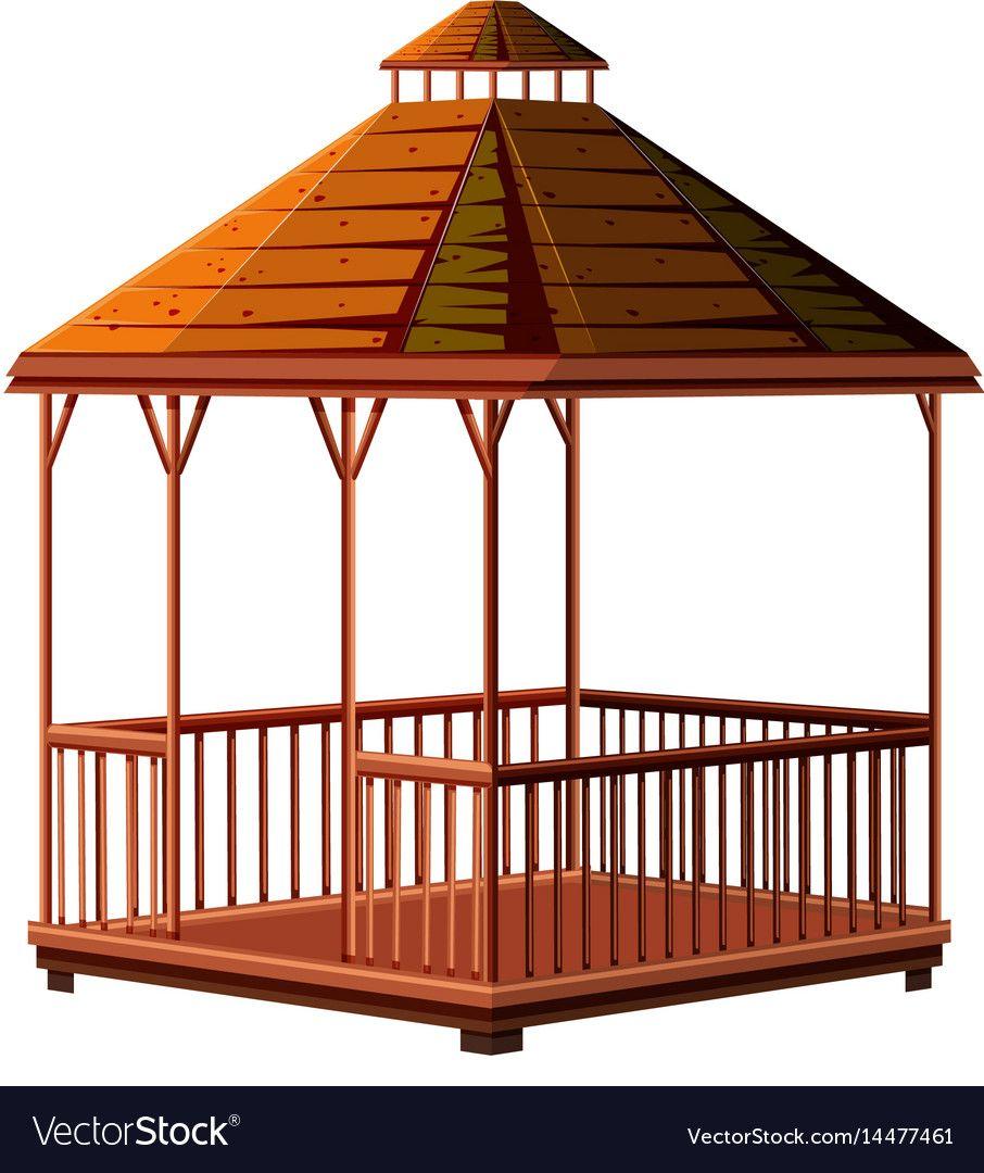 Architecture Design For Wooden Pavilion Vector Image On Vectorstock Wooden Pavilion Architecture Design Architecture