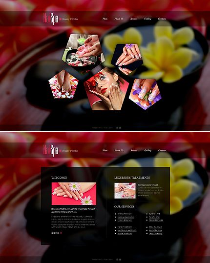 Nail Salon Website Template | Website themes and Website