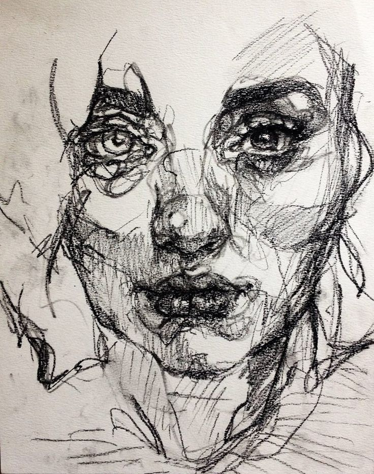 Drawing created using charcoal. Continuous line drawing capturing the features off her face. Different charcoal weights to highlight light and dark.                                                                                                                                                     Mais - #capturing #charcoal #Continuous #created #dark #drawing #face #features #highlight #light #line #Mais #weights #inktober2019