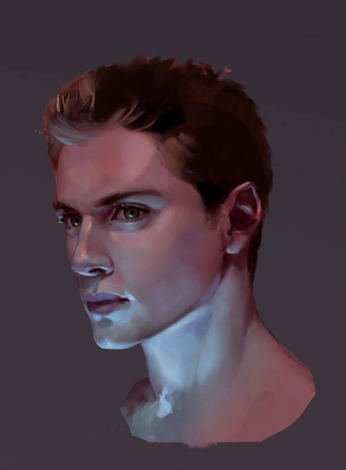 3d Male Digital Paint Digital Portrait Digital Portrait Art Digital Art Tutorial