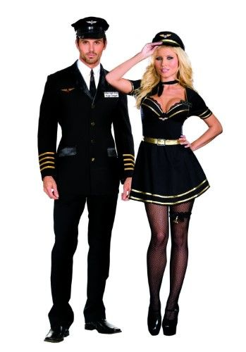 Mile High Hugh Jorgan Airline Pilot Costume Adult Medium Womenu0027s Black  sc 1 st  Pinterest & Mile High Pilot Hugh Jorgan Costume-Men Medium Size: Men Medium As ...