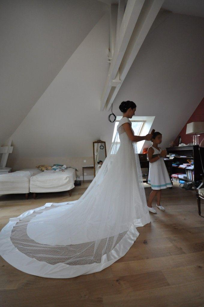 traine robe plumetis Weddings Dream wedding dresses