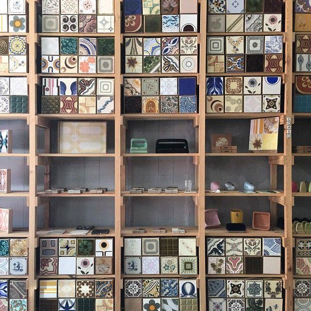 Wonderful vintage tile shop in Lisbon.