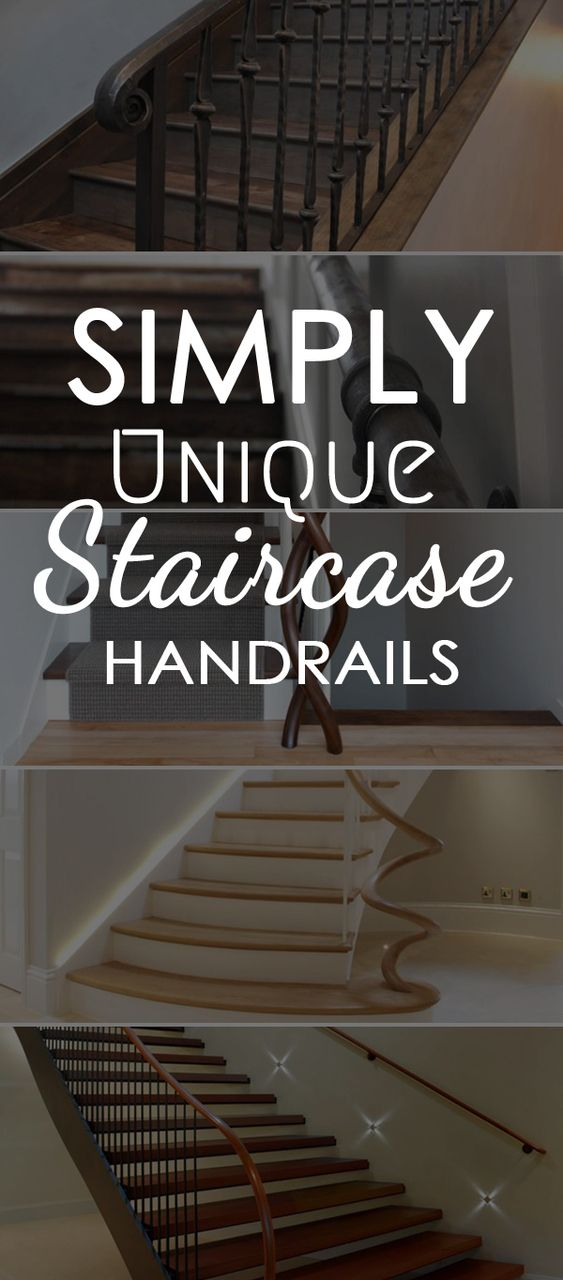 Unique Handrails From Twisted Wood Handrails To Faux Finished Iron | Short Handrail For Stairs | Exterior Handrail Ideas | Deck Railing Ideas | Spiral Staircase | Concrete | Wrought Iron