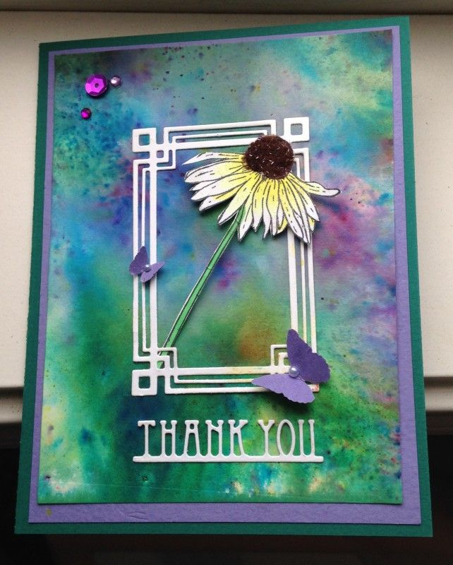 My First Brusho Card by Kat3719 - Cards and Paper Crafts at Splitcoaststampers