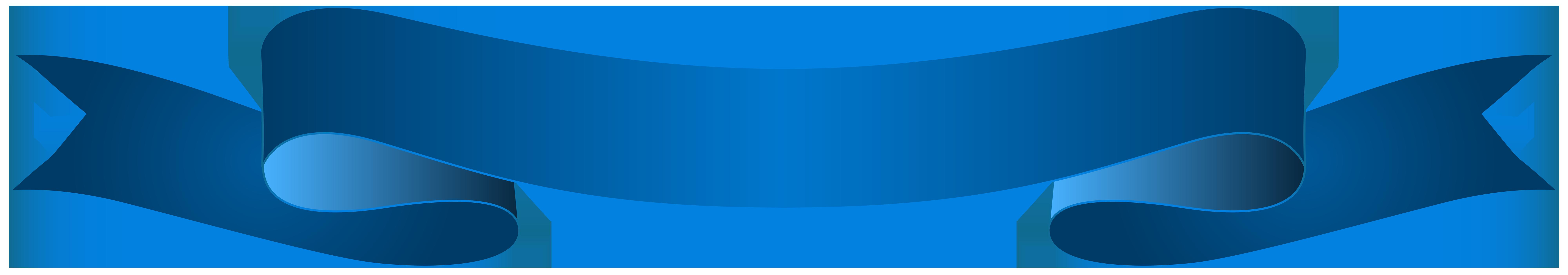 Blue Banner Transparent Clip Art Image