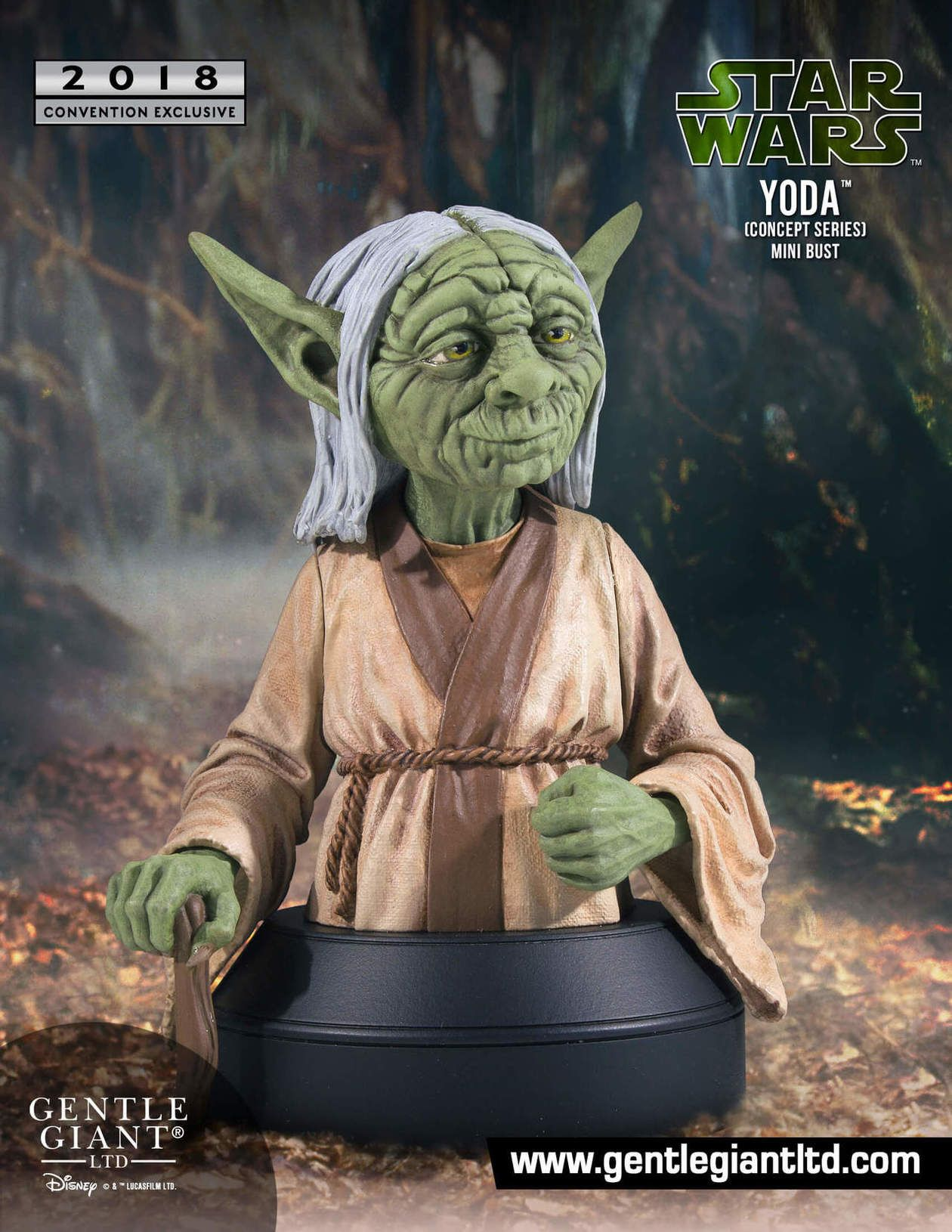 Gentle Giant Mcquarrie Concept Yoda Bust Coming To Sdcc
