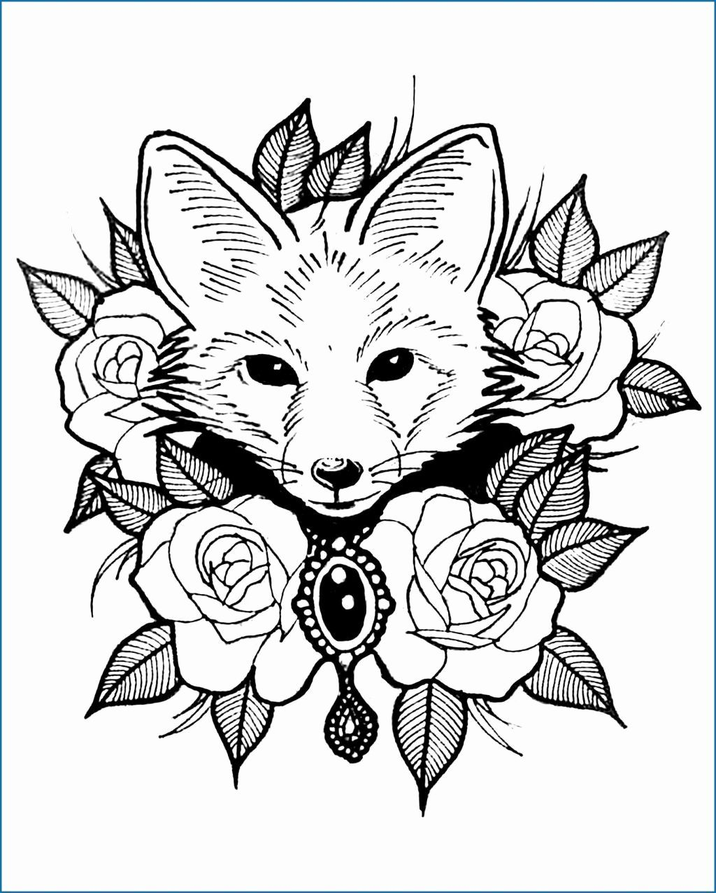 Cool Animal Coloring Pages For Kids In 2020 Zoo Animal Coloring Pages Fox Coloring Page Animal Coloring Books