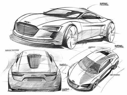 Audi R8 Sketches   Cars and horsepower   Car design sketch