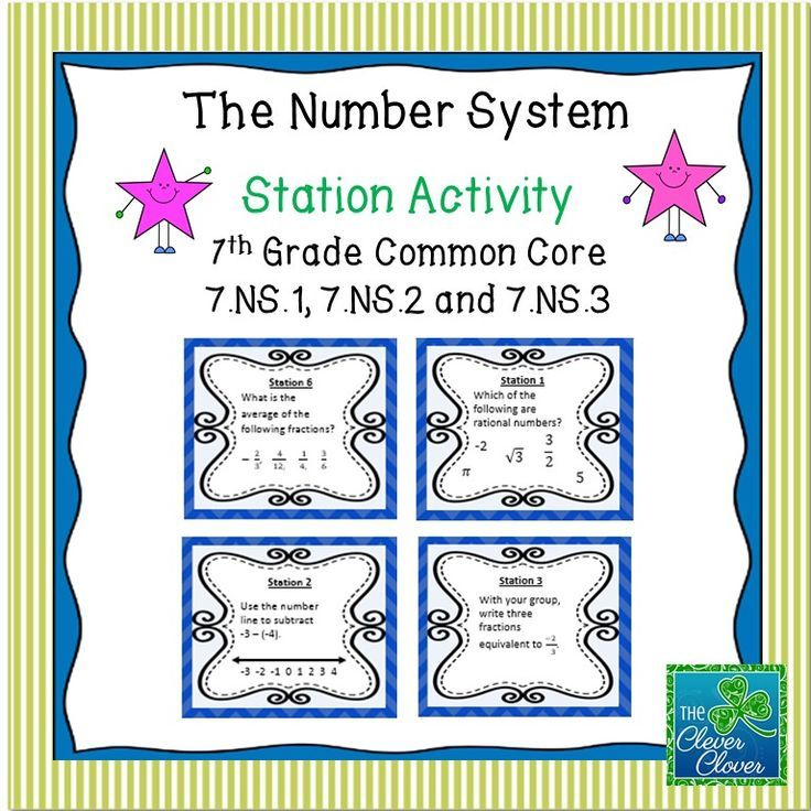 Rational Numbers Station Activity Rational numbers