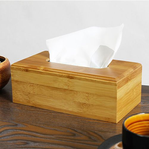 Free Shipping 1 Pcs New Bamboo Tissue Box Paper Rack Home Rectangle