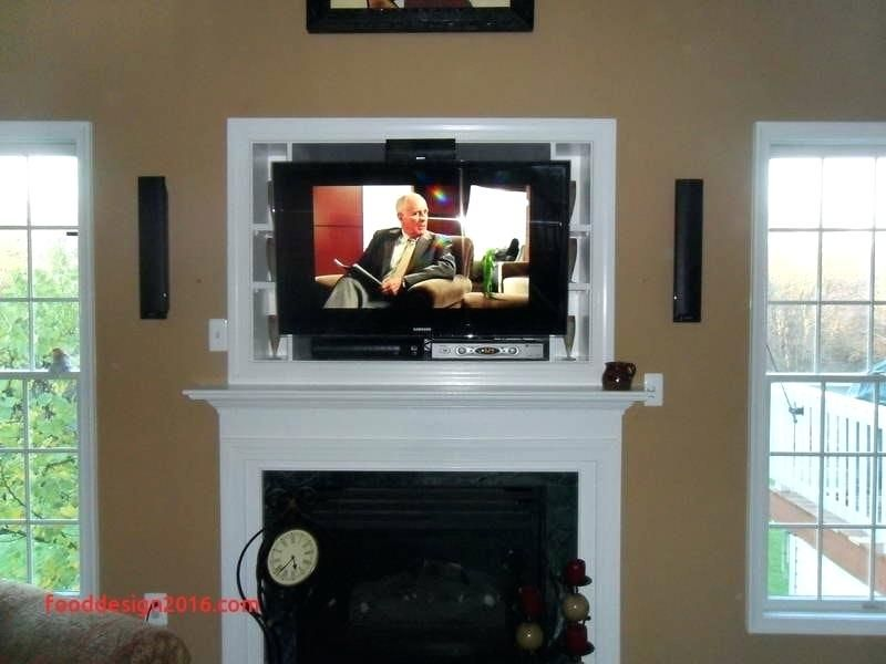 Mounting Tv Over Gas Fireplace How To Hide Wires For Wall Mounted Luxury Can You Hang Above