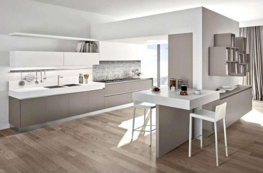 Abbinare il pavimento al rivestimento della cucina cucina moderna con parquet cucina moderna - Abbinare parquet e mobili ...