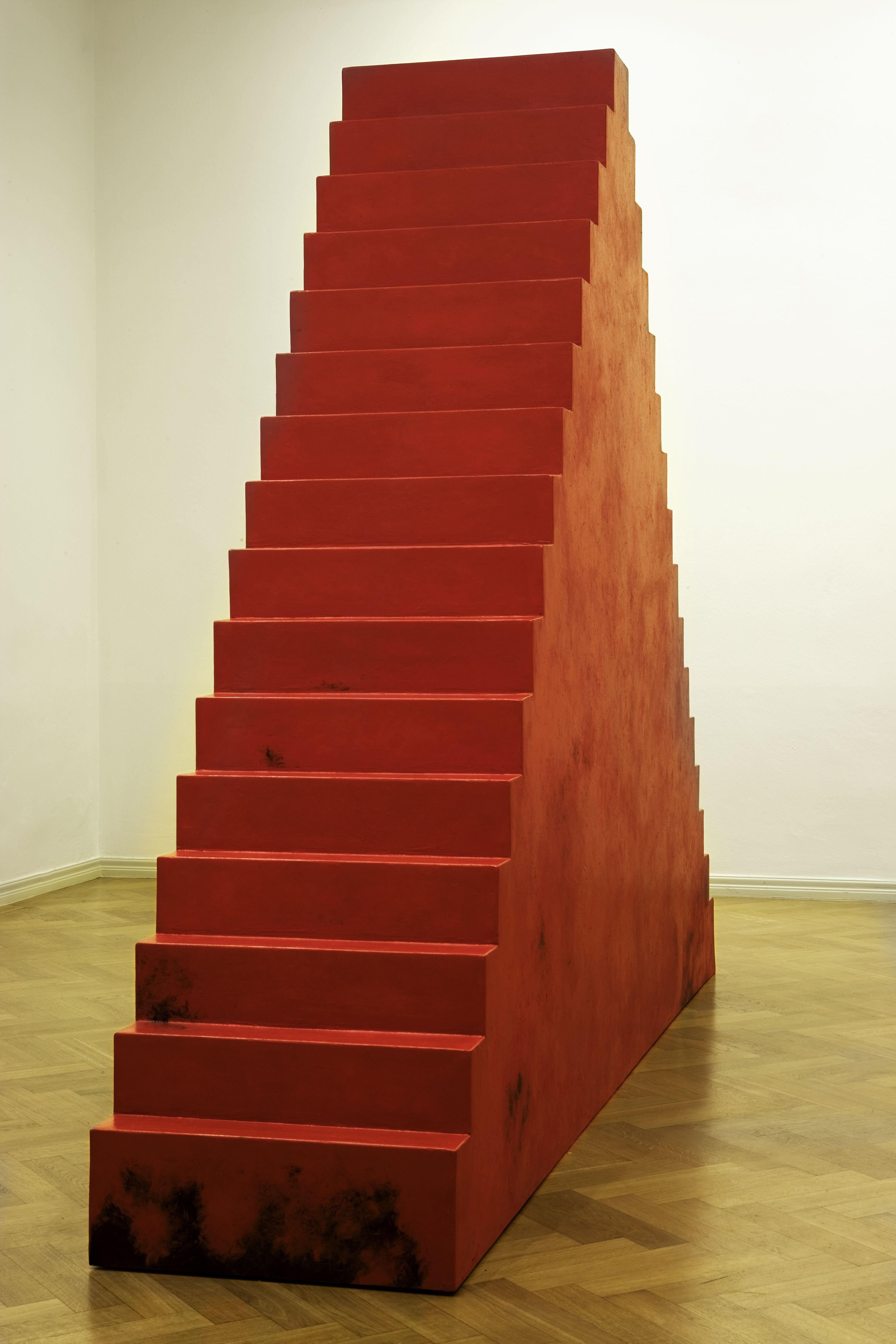 "Wolfgang Laib [Germany] (b 1950) ~ ""Ziggurat"", 2003. Burmese red lacquer on wood (241 x 317 x 66 cm).   Visit: http://pulse.rs/bez-pocetka-i-bez-kraja/ and help me promote the artist. Thanks!   #art #sculpture #conceptualart #installation"