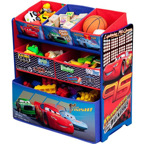 Disney Cars Multi Bin Toy Organizer Toy Organization Disney