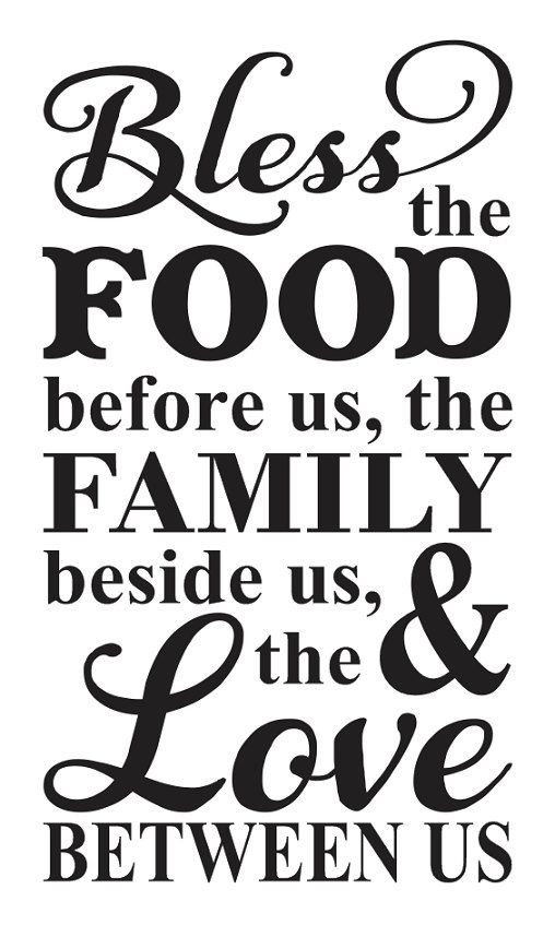photograph relating to Bless the Food Before Us Printable identified as Pin upon Silhouette