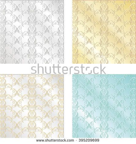 Set of colorful vintage textures. Seamless backgrounds for Wallpaper, vector