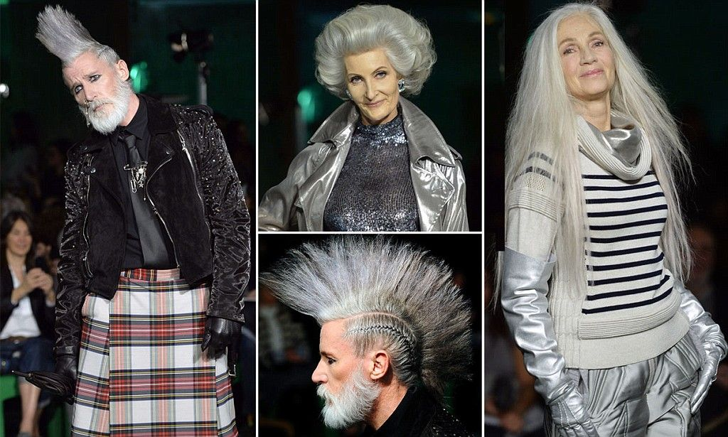 Grey mohawks, tartan and Union Jacks galore: Ageing punks rule Britannia at Jean Paul Gaultier Paris Fashion Week show  Read more: http://www.dailymail.co.uk/femail/article-2571121/Ageing-punks-grey-mohawks-rule-Jean-Paul-Gaultier-Paris-Fashion-Week-show.html#ixzz2uyOgaGsW  Follow us: @MailOnline on Twitter | DailyMail on Facebook