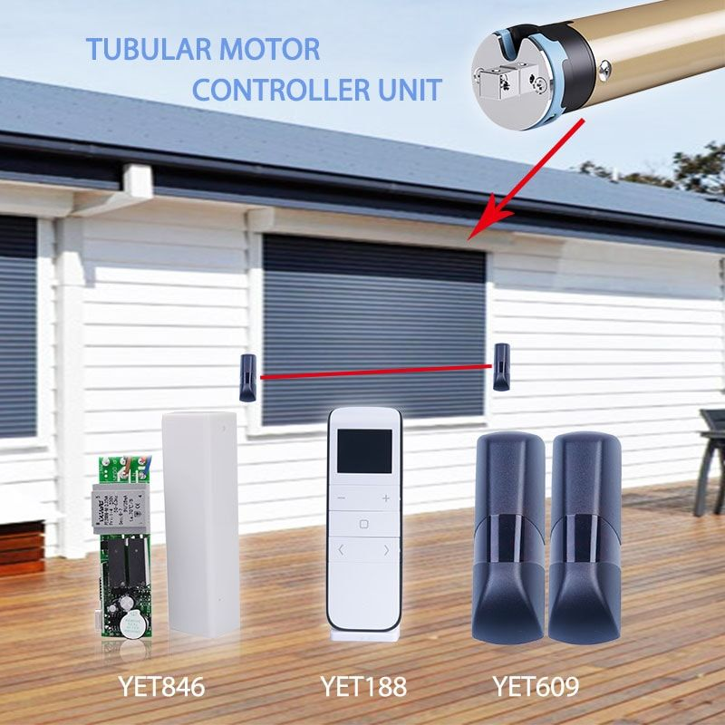 Commercial Store Roller Shutter Garage Gate Door Opener Remote WIFI Smartphone
