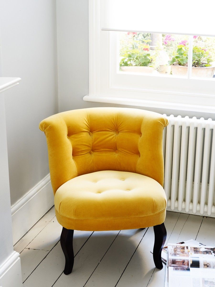 Love this chair as a yellow accent  Yellow accent chairs