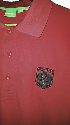 HUGO BOSS Men's Short Sleeve Polo Shirt sz XL Red TAVISTOCK CUP GOLF