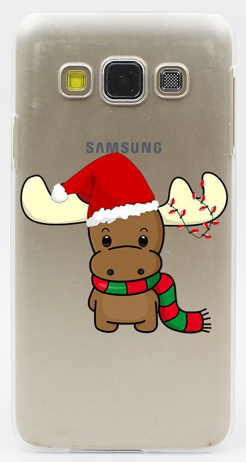 Christmas Edition Hard Hollow Out Transparent Phone Case