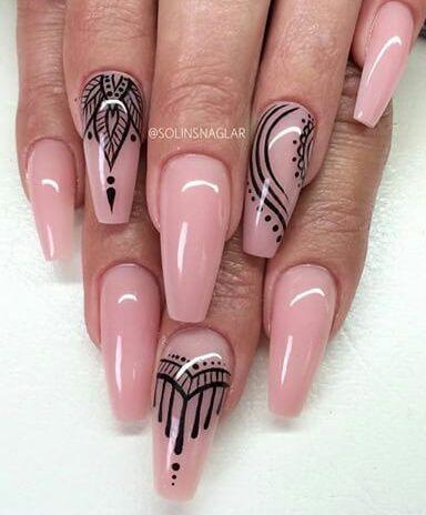 Pink stiletto nail art nails pinterest pointy nails pink stiletto nail art prinsesfo Images