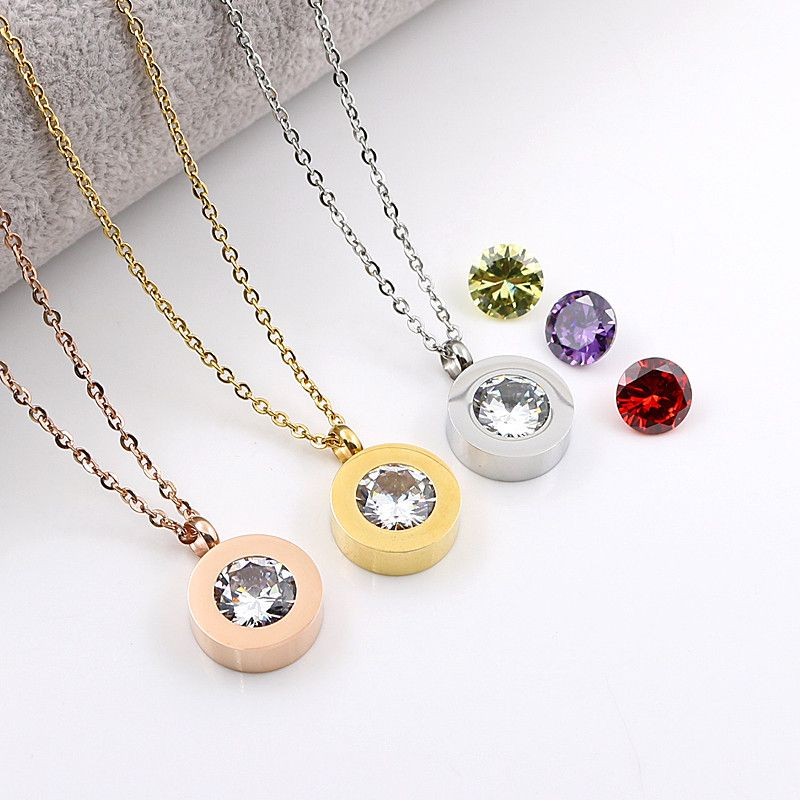 Find More Chain Necklaces Information about 3 Stone Rose Gold Plated Women Trendy Interchange Crystal Stone Necklaces Titanium Stainless Steel Jewelry Pendant Necklace,High Quality necklace body jewelry,China jewelry chain necklace Suppliers, Cheap jewelry necklace display from JINHUI on Aliexpress.com