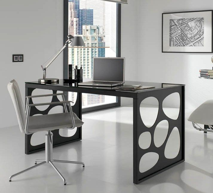 Modern Glass Office Desk Office Furniture Buro Schreibtisch