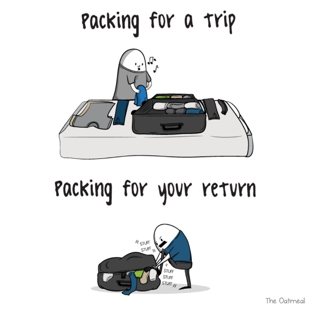 travel humor packing for the trip is easier than returning travel humor packing for the trip is easier than returning roomsninja